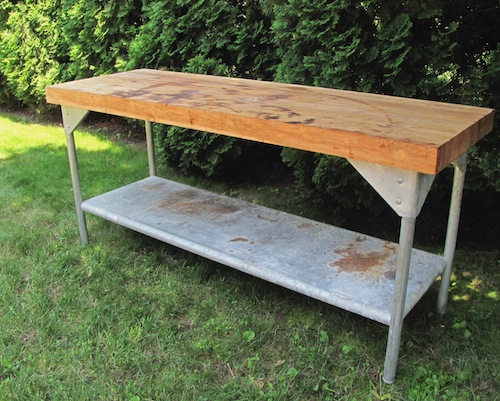 Vintage Maple Work Bench or Table