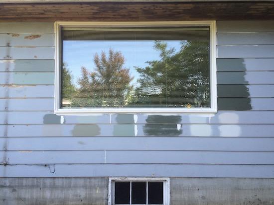exterior paint samples